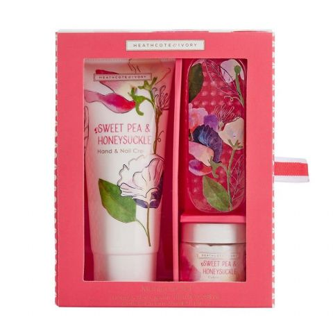 Sweet Pea & Honeysuckle Manicure Gift Set (Hand Cuticle Cream & Nail Brush ) Heathcote & Ivory